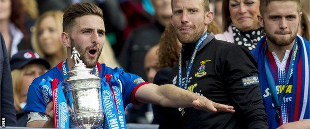 Graeme Shinnie after winning the Scottish Cup with Inverness