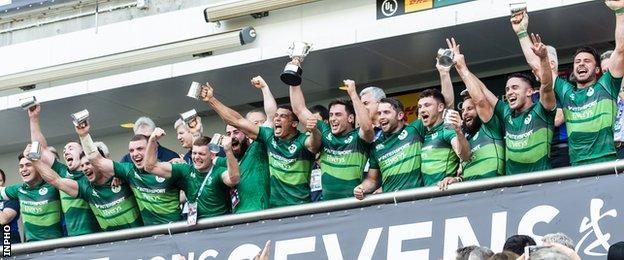 Ireland celebrate