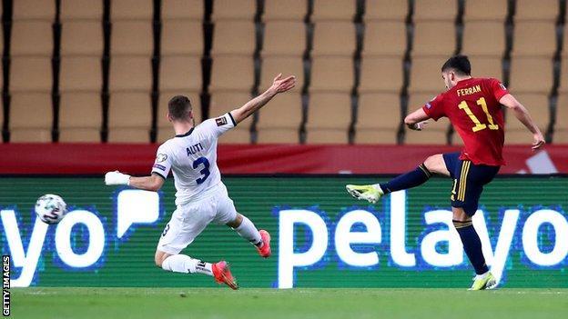 Ferran Torres scores against Kosovo
