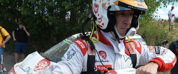 Kris Meeke crashes out of Rally Italy