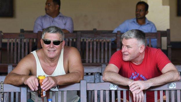 England fans in Sri Lanka