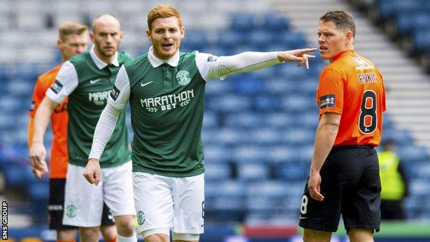 Hibernian and Dundee United met in the semi-final in 2016, with Hibs going on to lift the trophy