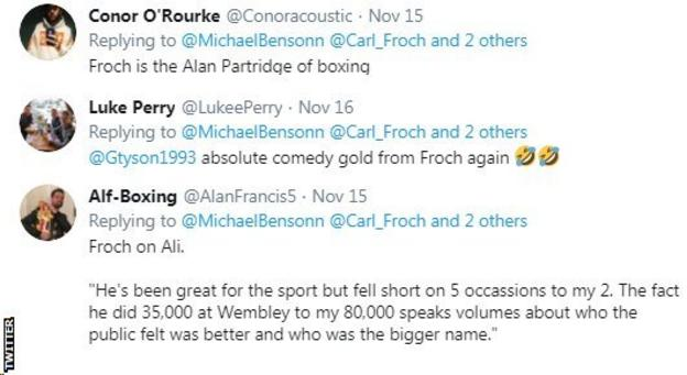 Twitter reaction to Carl Froch saying he'd beat Canelo and Golovkin