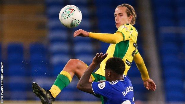 Norwich 2 0 Cardiff Emiliano Buendia And Todd Cantwell Give Championship Leaders Victory Bbc Sport