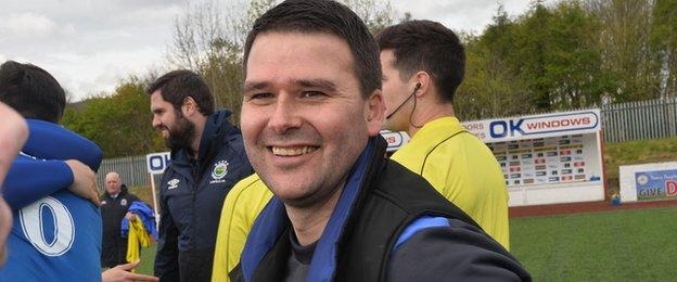 Former Northern Ireland striker David Healy won the title in his first full season as Linfield manager