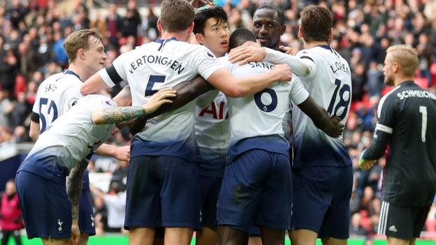 Tottenham Hotspur 3-1 Leicester City: Spurs maintain title hopes with Wembley win thumbnail