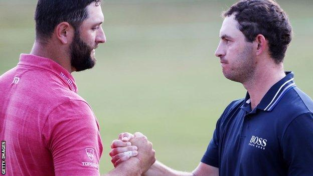 Jon Rahm and Patrick Cantlay at the Tour Championship