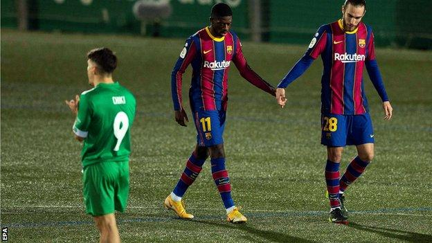 Spanish Copa Del Rey Report (2021): Barca miss two penalties in Copa del Rey tie but edge past third-tier Cornella in extra time