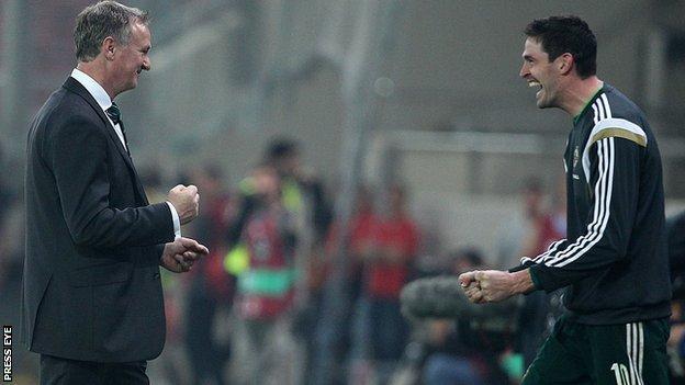 Michael O'Neill has inspired NI striker Kyle Lafferty