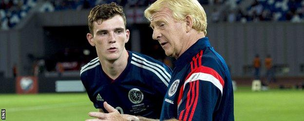 Scotland's Andrew Robertson and Gordon Strachan