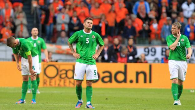 Northern Ireland were then beaten 6-0 by the Netherlands in Amsterdam in June 2012