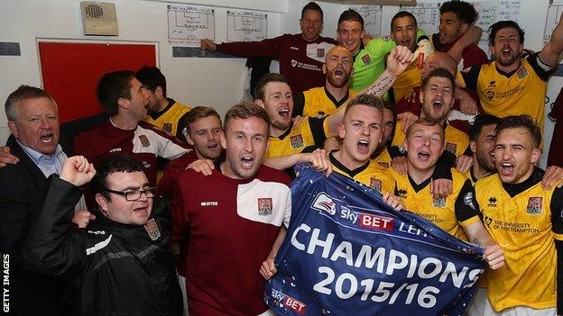 Northampton Town celebrations