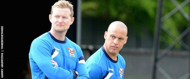 Manager Ian Rowe and assistant manager Peter Wood