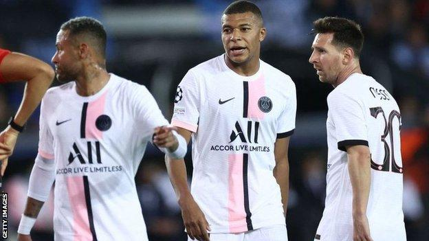 Neymar, Mbappe and Messi