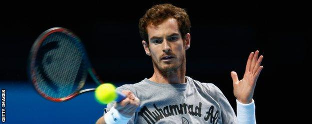 Andy Murray prepares for the ATP World Tour finals