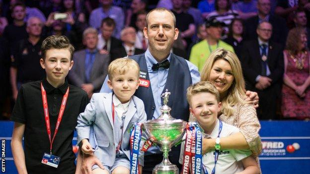 Mark Williams and his family