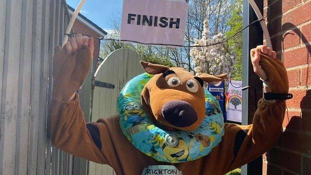 David Smith dressed as Scooby Doo