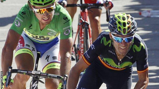 Alejandro Valverde and Peter Sagan