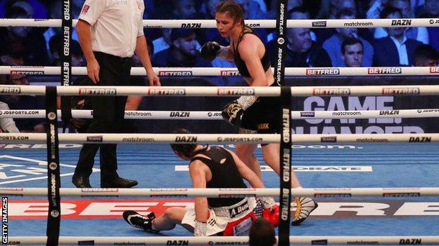Katie Taylor maintained her perfect professional record as she clinched a 19th straight victory