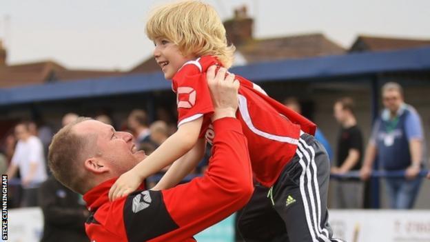 Steve Cunningham with his son Zak