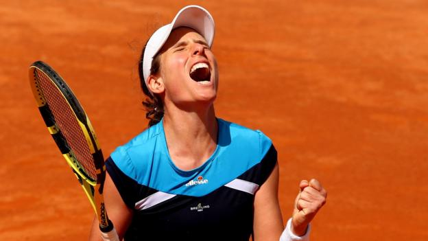 Italian Open: Johanna Konta reaches final with victory over Kiki Bertens thumbnail