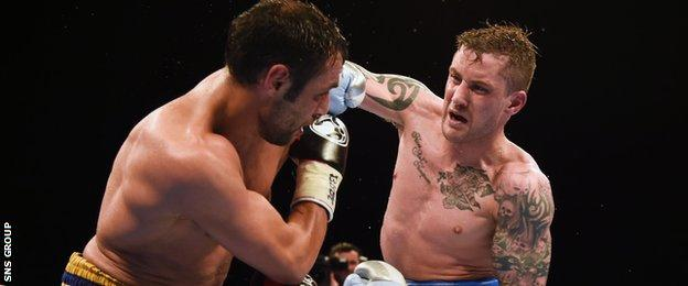 Ricky Burns delivered a dominant display to end the contest in the eighth round