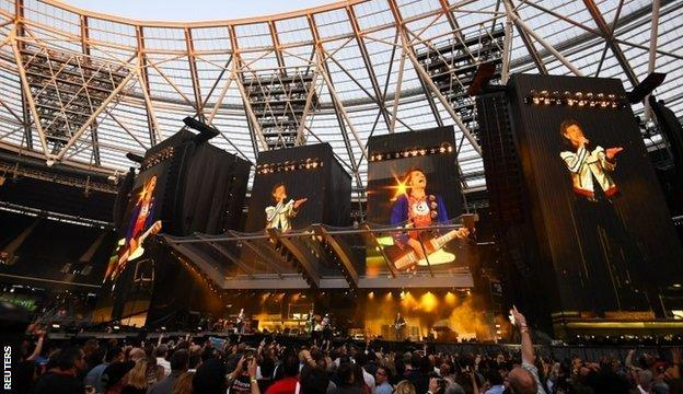 The Rolling Stones performed at the stadium in May