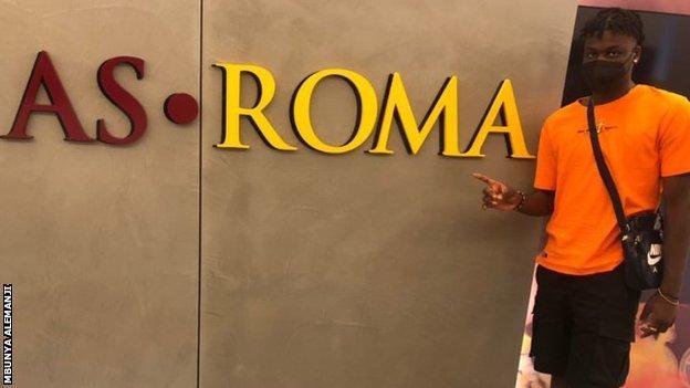 Mbunya Alemanji at Roma training ground