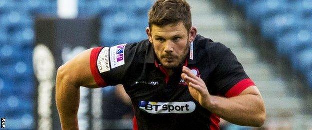 Ross Ford in action for Edinburgh
