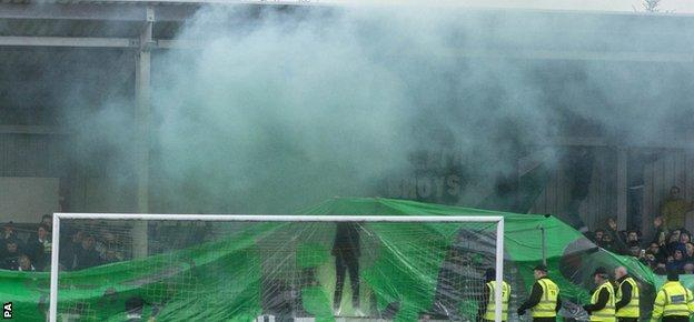 Celtic supporters' associations have backed the club's call to stop using flares and smoke bombs