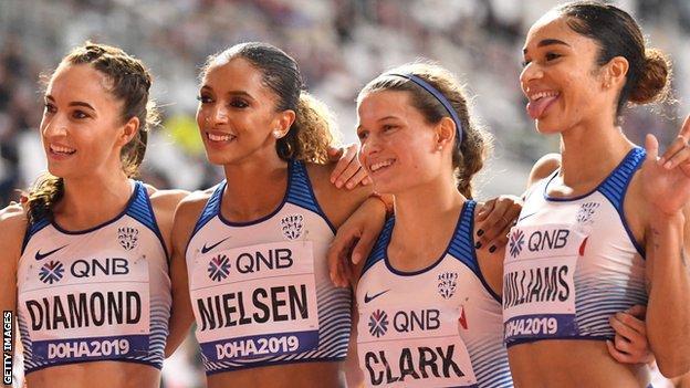 Great Britain's Doha 2019 4x400m quartet