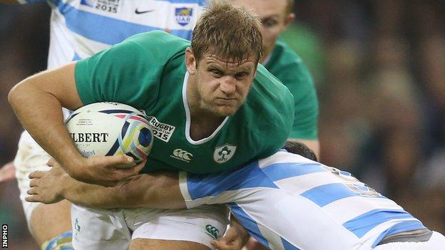 Chris Henry in action for Ireland against Argentina in October