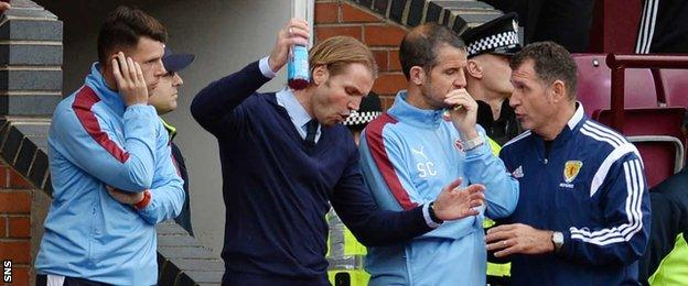 It was a frustrating afternoon for Hearts head coach Robbie Neilson