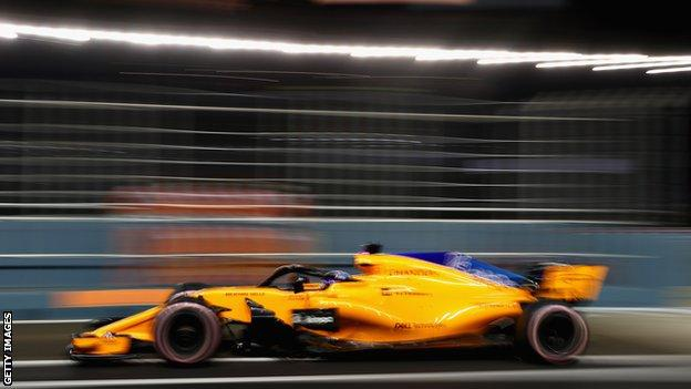 Fernando Alonso Singapore Grand Prix 2018