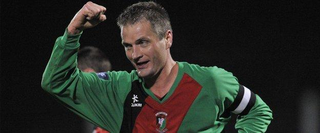 Colin Nixon won four league titles during his 18 years with Glentoran