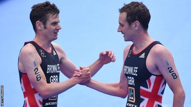 The Brownlee brothers - Alistair (right) and Jonny - are expected to contest gold in Australia