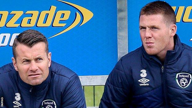 Shay Given and James McCarthy sat out Republic of Ireland training on Wednesday