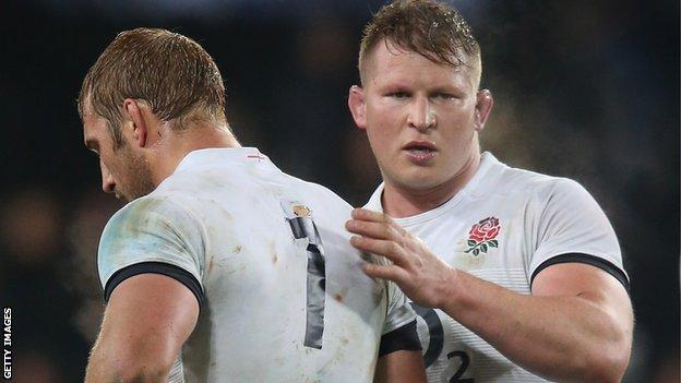 Chris Robshaw and Dylan Hartley