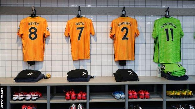 Wolves dressing room