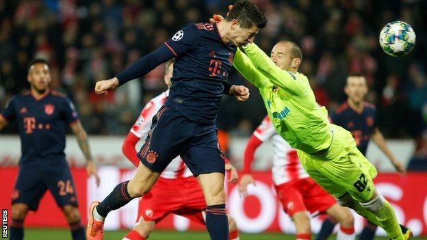 Lewandowski scores against Red Star