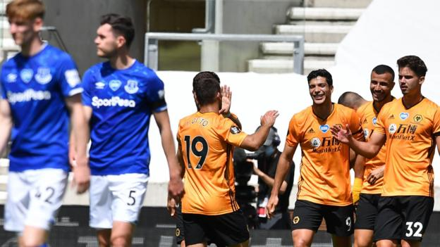 Wolves 3-0 Everton: Hosts boost Champions League hopes
