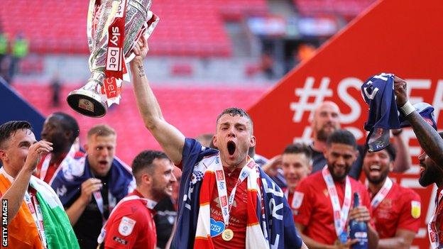 Morecambe celebrate promotion to League One
