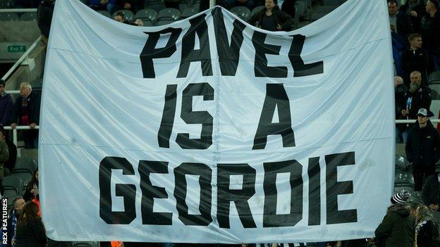Pavel Is A Geordie' flag
