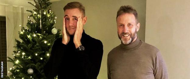 Stuart Broad with his dad Chris