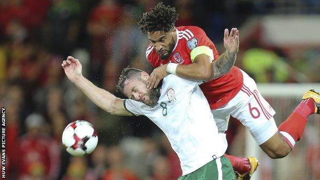 Ashley Williams won his 75th cap in the 1-0 loss to Republic of Ireland that ended Wales' World Cup hopes
