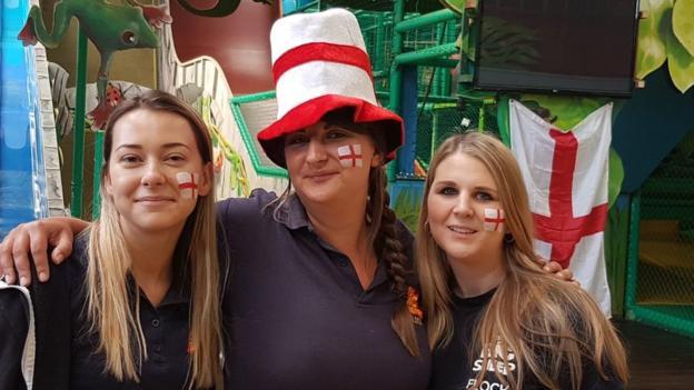 england fans in Devon