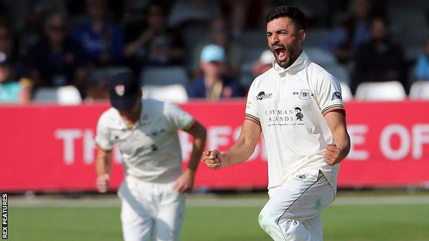 Zafar Gohar was Gloucestershire's bowling hero as the spinner claimed 3-7