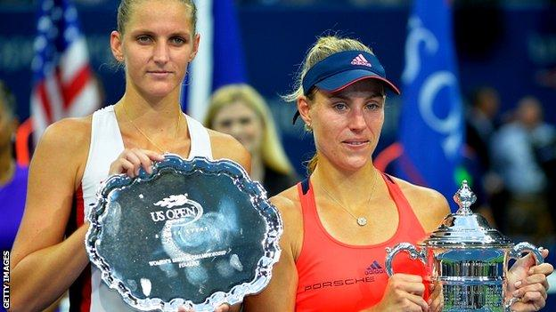 Karolina Pliskova and Angelique Kerber