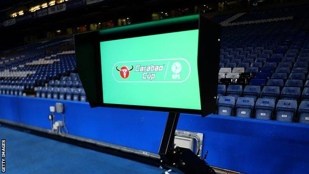 VAR was in use in the League Cup
