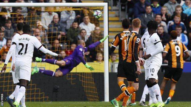 Sam Clucas scores for Hull